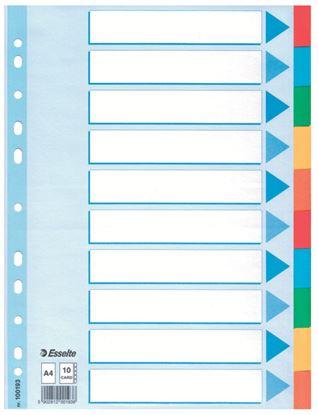 Obrázek Rozdružovač A4 kartonový Esselte - 10 listů