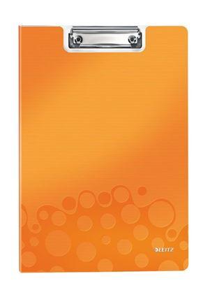 Obrázek Dvojdeska A4 s klipem Leitz WOW - oranžová