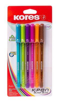 Obrázek Kuličkové pero Kores K1-Pen - sada / 6 ks