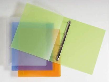 Obrázek Desky A4 kroužkové Opaline - 4 - kroužek / fialová