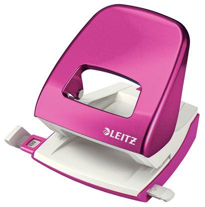 Obrázek Kancelářský děrovač Leitz 5008  -  metalická růžová