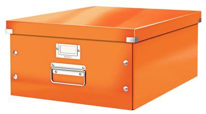 Obrázek Krabice Leitz Click & Store - L velká / oranžová