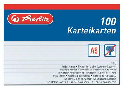 Obrázek Náhradní karty do kartotéky - karty A5 / 100 ks
