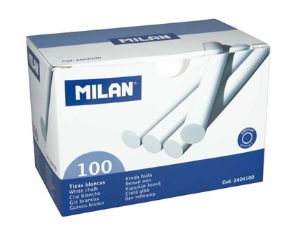 Obrázek Křídy školní Milan - bílé / 100 ks