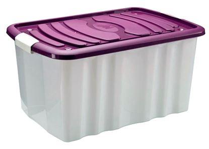 Obrázek Plastové boxy HOBBY s kolečky - 45 l / 59 x 39 x 30 cm