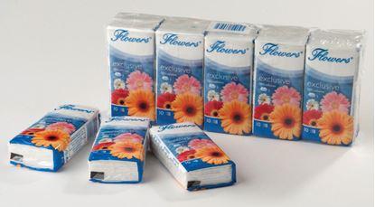 Obrázek Kapesníčky papírové Flowers - Flowers / třívrstvé / 10 x 10 ks
