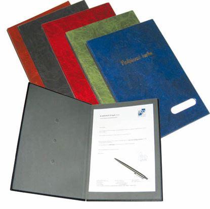 Obrázek Kniha podpisová Hanibal - imitace kůže / modrá