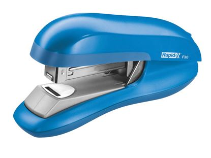 Obrázek Kancelářský sešívač Rapid F30 s plochým sešíváním - světle modrá + DÁREK