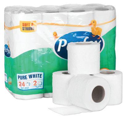 Obrázek Perfex toaletní papír 2-vrstvý 24 ks