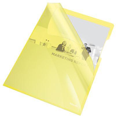 Obrázek Zakládací obal A4 silný barevný - tvar L / žlutá 25 ks