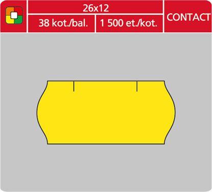 Obrázek Etikety do etiketovacích kleští - 26 x 12 mm Contact / žlutá