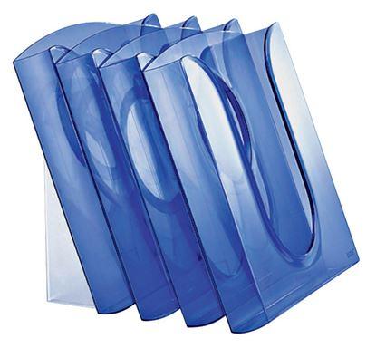 Obrázek Adaptér pro zavěšení kancelářských boxů a boxy - boxy / modrá transparentní