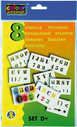 Obrázek Šablony pro foukací fixy 9996 Centropen - D / písmena