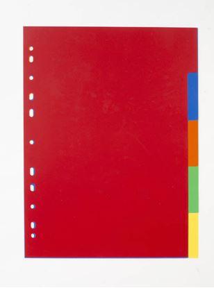 Obrázek Rozdružovač A4 plastový barevný - 2 x 6 barev