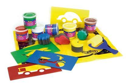 Obrázek Prstové barvy JOVI BOX -  6 x 125 ml + doplňky