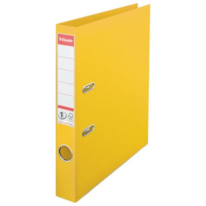 Obrázek Pořadač A4 pákový celoplastový - hřbet 5 cm / žlutá