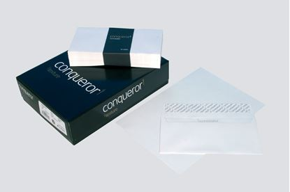 Obrázek Obálky Conqueror žebrované - obálka DL krémová / 500 ks