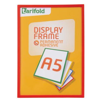 Obrázek Kapsy samolepicí Tarifold Display Frame - A5 / červená