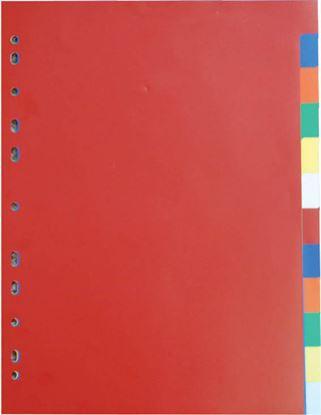 Obrázek Rozdružovač A4 plastový barevný - 2 x 5 barev