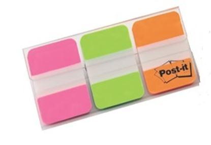 Obrázek Samolepicí záložky Post-it super silné - růžová, zelená, oranžová / 66 záložek