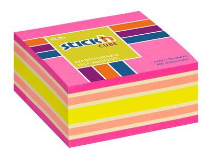 Obrázek Samolepicí bločky Stick´n by Hopax - 76 x 76 mm / 400 lístků / neon mix růžová