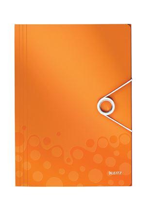 Obrázek Spisové desky A4 s gumou WOW - oranžová