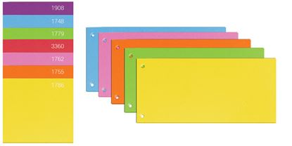 Obrázek Rozdružovací kartonové jazyky  - barevný mix / 100 ks