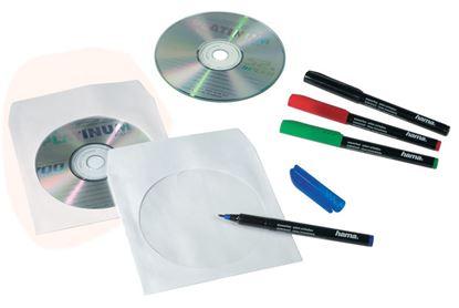 Obrázek Obálky na CD / DVD - 100 ks / bílá