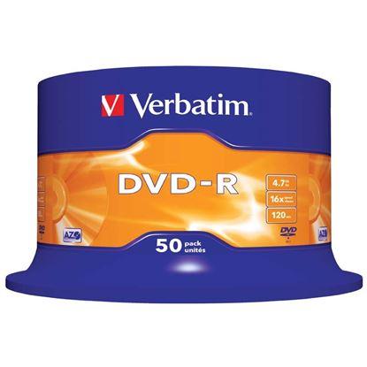 Obrázek DVD Verbatim - DVD - R / bez krabiček / spindl / 50 ks