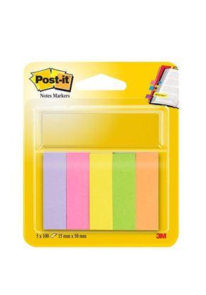 Obrázek Samolepicí bločky Post-it značkovací - 15 mm x 50 mm / 5 x 100 lístků