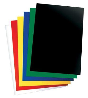 Obrázek Desky pro kroužkovou vazbu zadní strana  -  A4 / červená / 100 ks