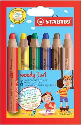 Obrázek Multifunkční pastelky STABILO® woody 3 in 1 - 6 barev