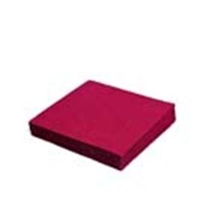 Obrázek Ubrousky papírové barevné třívrstvé - 33 cm x 33 cm / bordó / 20 ks