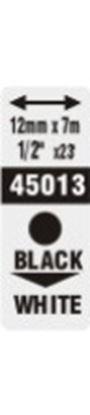 Obrázek Pásky D1 standardní  -  12 mm x 7 m / černý tisk / bílá páska