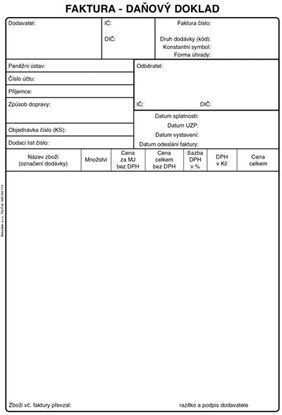 Obrázek Faktura daňový doklad - A5 /50 listů/ NCR / PT199