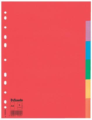 Obrázek Rozdružovač A4 kartonový Esselte - 6 listů