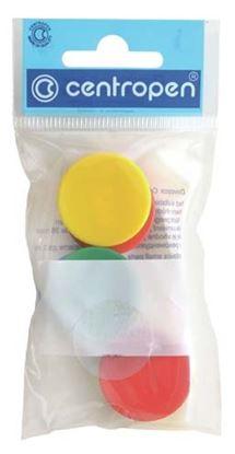 Obrázek Magnety Centropen - průměr 30 mm / barevný mix / 6 ks