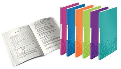Obrázek Prezentační desky A4 WOW - 20 kapes / fialová