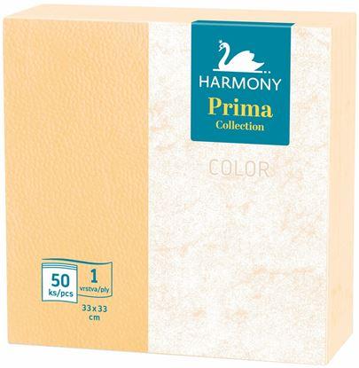 Obrázek Ubrousky papírové barevné Harmony Color - 33 cm x 33 cm / oranžová / 50 ks