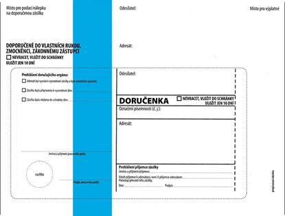 Obrázek Obálky C5 s doručenkou, vytrhovací okénko - s modrým pruhem / 1000 ks
