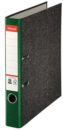 Obrázek Pořadač A4 pákový papírový s barevným hřbetem - hřbet 5 cm / zelená / 36061