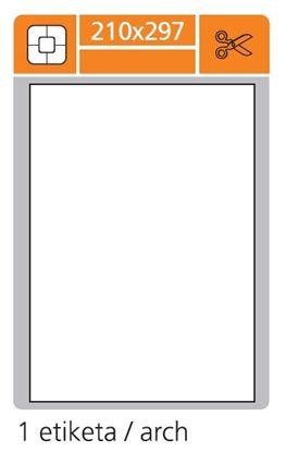 Obrázek Print etikety A4 PLUS pro laserový a inkoustový tisk - 210 x 297 mm (1 etiketa / arch)