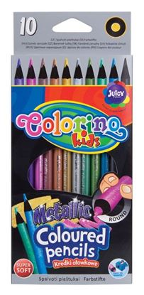 Obrázek Pastelky Colorino metalické Metalic - 10 barev