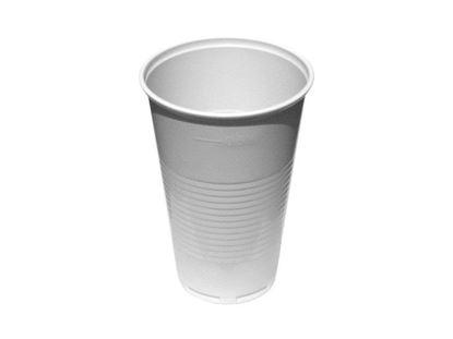 Obrázek Kelímky plastové - bílé / 5 dcl / 50 ks