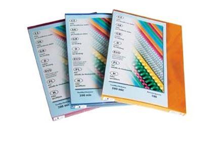 Obrázek Desky pro kroužkovou vazbu zadní strana  -  A4 / bílá / 100 ks