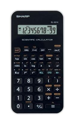 Obrázek Sharp EL-501 školní kalkulačka černo-fialová