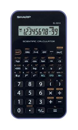 Obrázek Kalkulačka Sharp EL 501 -  černo-bílá