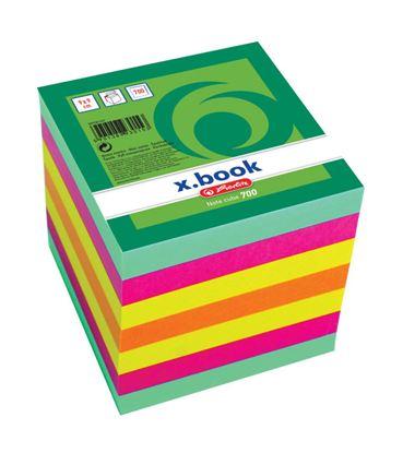 Obrázek Záznamní kostky barevné Herlitz - 9 cm x 9 cm x 9 cm / 700 lístků / lepená vazba