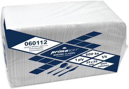 Obrázek PrimaSoft Gastro papírové ubrousky 1-vrstvé 33 x 33 cm 500ks