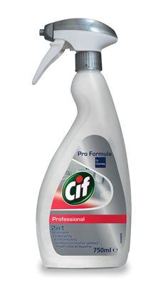 Obrázek Cif Professional 2v1 čistič koupelen - 750 ml s rozprašovačem